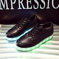 ieftine -Bărbați / Pentru femei Pantofi Imitație de Piele Primăvară / Vară / Toamnă Pantofi Usori Toc Drept Dantelă Alb / Negru