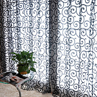 Et panel Window Treatment Land Stue Polyester Materiale gardiner gardiner Hjem Dekor For Vindu