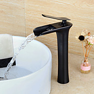 Vessel Single Handle One Hole in Oil-rubbed Bronze Bathroom Sink Faucet