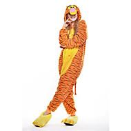 Kigurumi-pyjamas Tiger Onesie-pyjamas Kostume Polarfleece Gul Cosplay Til Nattøj Med Dyr Tegneserie Halloween Festival / Højtider
