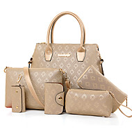 Žene Torbe PU Tote torbica Satchel Clutch torbica Bag Setovi Torba za rame Novčanici 6 kom za Šoping Kauzalni Formalan Ured i karijera