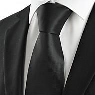 עניבה-משובץ (רשת)(שחור,פוליאסטר)