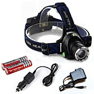 お買い得  フラッシュライト/キャンプ用ランタン-HP79 ヘッドランプ LED 2000lm 3 照明モード バッテリー&チャージャー付き ズーム可能 / 焦点調整可 / 耐衝撃性 キャンプ / ハイキング / ケイビング / 日常使用 / 警察 / 軍隊