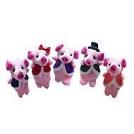 חזיר בובות אצבע / בובות על חוטים Cute / מודרני, חדשני / חמוד סרט מצוייר טֶקסטִיל / קטיפה בנות מתנות 5 pcs