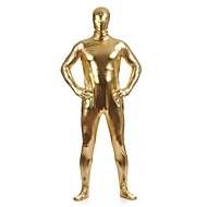 Glimmende Zentai-Pakken Skin Suit Full Body Suit Ninja Volwassenen Cosplaykostuums Gouden Effen Spandex Metallic Heren Dames Kerstmis Halloween / Hoge Elasticiteit