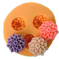 Kolme Cell Small Flower silikonimuottia konvehti Muotit Sokeri Craft Työkalut hartsi kukkia Mould muotit Kakut