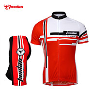 ieftine TASDAN®-TASDAN Bărbați Manșon scurt Jerseu Cycling cu Pantaloni Scurți - Rosu Albastru Bicicletă Pantaloni scurți Jerseu Set de Îmbrăcăminte,