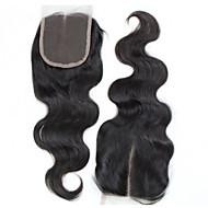 Wavy Human Hair Closure Medium Brown gram Cap Size