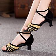 baratos Sapatilhas de Dança-Mulheres Sapatos de Dança Latina Glitter / Paetês / Sintético Sandália / Salto / Têni Lantejoulas / Apliques / Gliter com Brilho Salto
