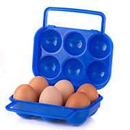 caixa de piquenique casal caixa de ovo bloqueio ao ar livre portátil com ovos punho cor aleatória