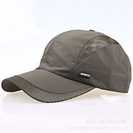 Boné Homens Pesca / Basebal / Esportes de Lazer / Golfe Vermelho / Cinza Escuro / Cinzento Claro / Preto / Azul Tecido / NailomPrimavera