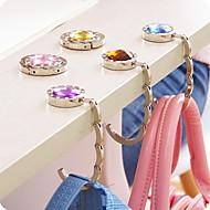 halpa -muoti tekojalokivi laukku maalivahti taitettu pussi haltija metalli hangbag koukku (random väri)