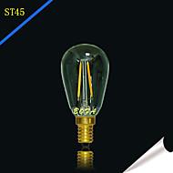billige Globepærer med LED-2 W 2200/2700 lm E14 / E12 LED-globepærer Tube 2 LED perler COB Mulighet for demping / Dekorativ Varm hvit 220-240 V / 110-130 V / 1 stk.