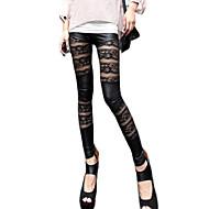 Ženy Krajka Legging,Polyester Střední