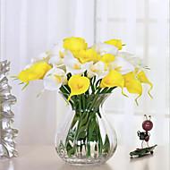 10 Gren PU Calla-lilje Bordblomst Kunstige blomster
