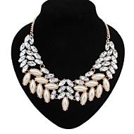 Dame Perle Lyserød Kort halskæde / Erklæring Halskæder / Perlehalskæde - Perle Erklæring, Europæisk, Mode Hvid Halskæder Til Fest
