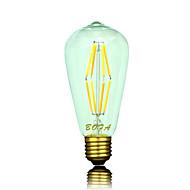 billige Globepærer med LED-6W 500-600 lm E26/E27 E26 B22 LED-globepærer ST64 8 leds COB Mulighet for demping Dekorativ Varm hvit AC 110-130V AC 220-240V