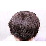 """8 """"* 10"""" miesten hiuslisäke 100% Perun neitsyt hiukset korvaaminen hiuslisäke miehille ei vyyhti ei irtoaminen"""