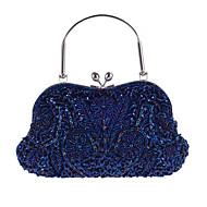 お買い得  クラッチバッグ&イブニングバッグ-女性用 バッグ ポリエステル イブニングバッグ フラワー ブルー / ダークグレイ / ライトブラウン / ウェディングバッグ / ウェディングバッグ