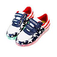 baratos Sapatos de Tamanho Pequeno-Mulheres / Para Meninos / Para Meninas Sapatos Courino Verão Tênis com LED Tênis Velcro / LED para Azul