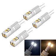 billige Kornpærer med LED-g9 led corn lyser t 6 smd 3014 100lm varm hvit kald hvit 3000k / 6000k dekorativ dc 12 ac 12v