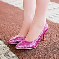 baratos Sapatos de Tamanho Pequeno-Mulheres Sapatos Gliter / Courino Primavera / Verão / Outono Salto Agulha Gliter com Brilho Prata / Roxo / Dourado / Casamento / Festas & Noite / Social / Festas & Noite