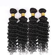 İnsan saç örgüleri Düz Brezilya Saçı Dalgalı 3 Parça saç örgüleri