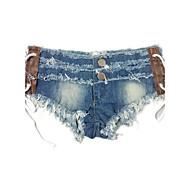 Ženske Seksi Niski struk Mikroelastično Kratke hlače Traperice Hlače Jednobojni