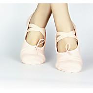 billige Kustomiserte dansesko-Dame Ballettsko Lerret Joggesko Snøring Kustomisert hæl Kan spesialtilpasses Dansesko Svart / Rød / Rosa / Trening