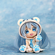 Figuras de Ação Anime Inspirado por Fantasias Snow Miku PVC 7 CM modelo Brinquedos Boneca de Brinquedo