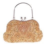 女性 バッグ オールシーズン ポリエステル イブニングバッグ パール装飾 のために 結婚式 イベント/パーティー フォーマル ゴールド ダークブルー グレー パープル