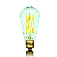 billige Globepærer med LED-B22 E26 E26/E27 LED-globepærer ST64 6 leds COB Mulighet for demping Dekorativ Varm hvit 2200/2700/3000lm 2200K 2700K  3000KK AC 220-240