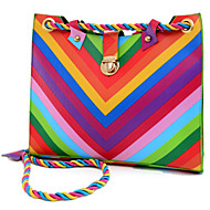 Women Bags PU Shoulder Bag for Rainbow