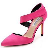 baratos Sapatos Femininos-Mulheres Tecido Primavera / Verão Salto Agulha Velcro Azul Escuro / Fúcsia / Khaki / Festas & Noite / Social / Festas & Noite