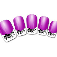 Abstract Purple XF821 French 3D Nail Stickers