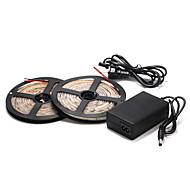 お買い得  LEDストリップライト-5メートル60×2835smd暖かい/クールホワイト防水ストリップライトと12Vの電源を主導しました