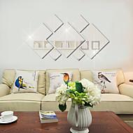 cheap Clearance-Living Room Bedroom Sofa Background Wall Decoration Bathroom Mirror Acrylic Diamond Mirror Wall Stickers 7PCS
