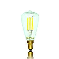 e14 e12 led globe pærer tube 4 cob 200-300lm varm hvit 2200k 2700k dekorative dimbar ac 110-130 ac 220-240v