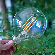billige Glødelampe-1pc 4 E27 E26 G125 Varm hvit 2300 K Glødende Vintage Edison lyspære AC85-265 AC 220V AC 85-265V V