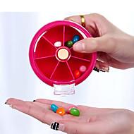 お買い得  トラベル-旅行用ピルケース 携帯式 のために 旅行用緊急グッズ プラスチック-オレンジ ピーチ ローズレッド グリーン ブルー