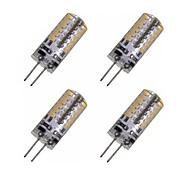 baratos Luzes LED de Dois Pinos-4pçs 2W 150-200lm G4 Lâmpadas Espiga T 48 Contas LED SMD 3014 Decorativa Branco Quente / Branco Frio 12V / 4 pçs / RoHs