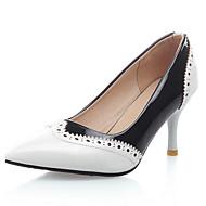 Pantofi pentru femei-Imitație de Piele-Toc Stiletto-Tocuri / Vârf Ascuțit / Vârf Căciulă-Pantofi cu Toc-Rochie / Party & Seară-Negru /