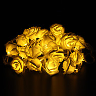 5m 20-ledet udendørs ferie dekoration rose form varm hvid lys led streng lys (220v)