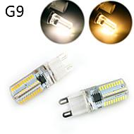 billige Kornpærer med LED-YWXLIGHT® 10pcs 5 W 500 lm E14 / G9 / G4 LED-kornpærer T 80 LED perler SMD 3014 Mulighet for demping / Dekorativ Varm hvit / Kjølig hvit 220-240 V / 110-130 V / 1 stk. / RoHs