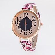billige Quartz-Dame Quartz Armbåndsur Afslappet Ur PU Bånd Mat Sort Mode Mangefarvet