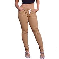 Dame Weekend Hullet Legging - Ensfarvet Medium Talje