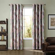 To paneler Window Treatment Rustikk / Moderne / Neoklassisk / Middelhavet / Rokoko / Barokk / Europeisk / Designer , Stripe / Kurv /