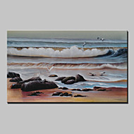 Lager Hand Painted Seaside Scenery Famous Oil Painting Abstract Wall Art Paintings For Living Room Home Whit Frame