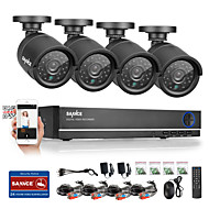 SANNCE® 4CH AHD DVR 4PCS 720P IR Weatherproof Outdoor CCTV Camera Home Security Surveillance Kits CCTV System