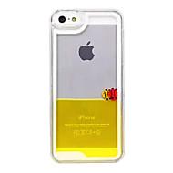 billiga Mobil cases & Skärmskydd-fodral Till iPhone 5 iPhone 5-fodral Flytande vätska / Genomskinlig Skal Tecknat Hårt PC för iPhone SE / 5s / iPhone 5